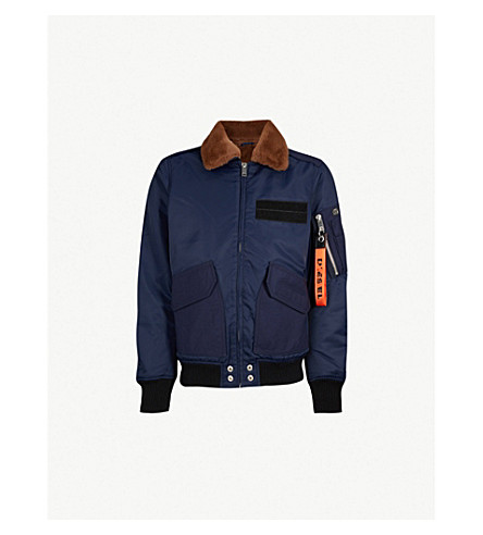 DIESEL W-Slotkin 软壳面料飞行员夹克 (Peacoat + 蓝色