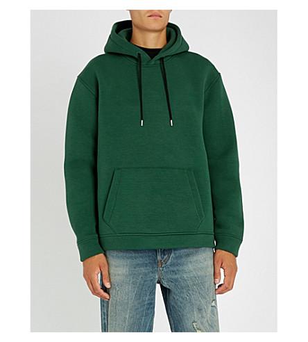 DIESEL S-戈登棉混合帽衫 (暗 + 绿色