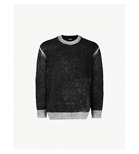 DIESEL K-Conf wool-blend jumper (Black