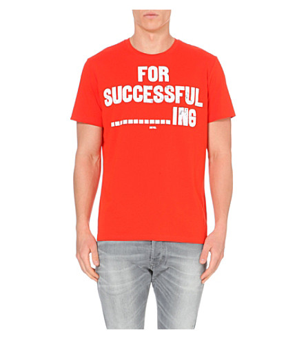 DIESEL T-napol for successful ----------ing t-shirt (Red