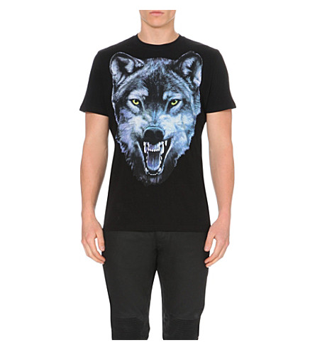 Diesel T Mocty Wolf Print T Shirt