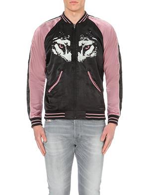 DIESEL J-Gahan satin bomber jacket