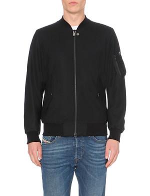 DIESEL J-shadow zip-up stretch-wool jacket