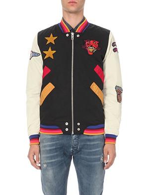 DIESEL J-tendency patch-detail cotton-blend bomber jacket