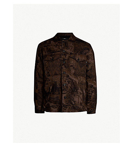 DIESEL S-Late-Padd-A printed padded jacket (Olive night