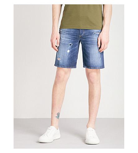 DIESEL Bustshort distressed denim shorts (Denim