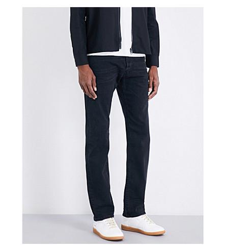 DIESEL Akee slim-fit tapered jeans (Dark+wash+black