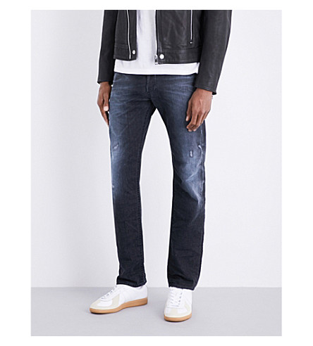 DIESEL Akee slim-fit tapered jeans (Dark+wash+indigo