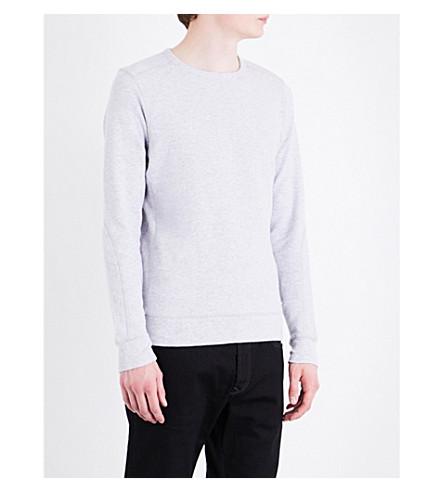 DIESEL S-Willard ribbed cotton-jersey sweatshirt (Dark+grey+melange