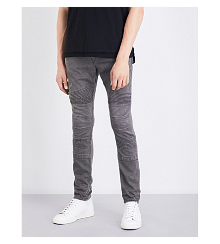 DIESEL Bakari-ne regular-fit mid-rise jogg jeans (Dark+wash+black