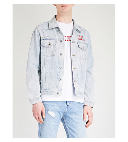 DIESEL Nhill taped-detail denim jacket (Denim