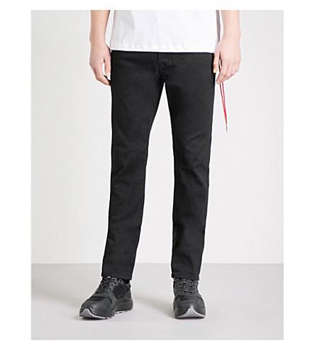 DIESEL Larkee-Beex regular-fit tapered jeans (Grey+black