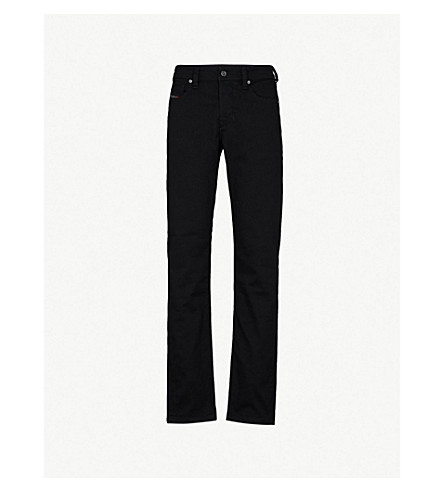 DIESEL Larkee-Beex slim-fit tapered jeans (Grey+black