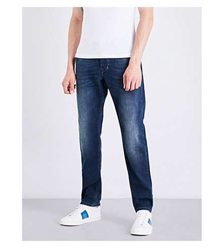 DIESEL Larkee-beex regular-fit tapered jeans (Medium+wash+blue
