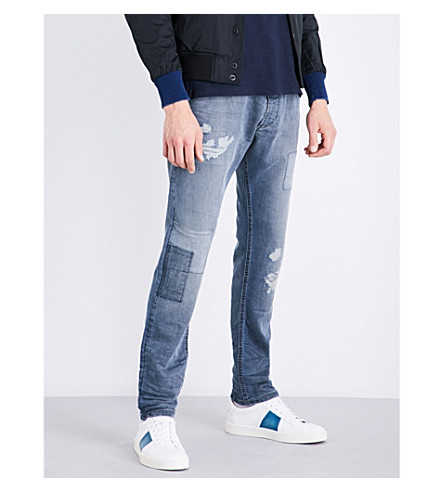DIESEL Krooley carrot-fit tapered jogg jeans (Dark+wash+indigo