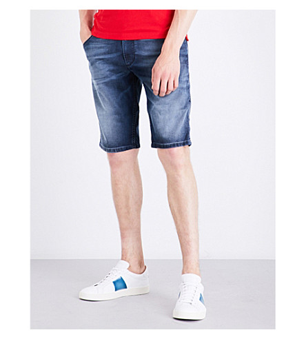 DIESEL Krooshort-ne stretch shorts (Medium+wash+blue