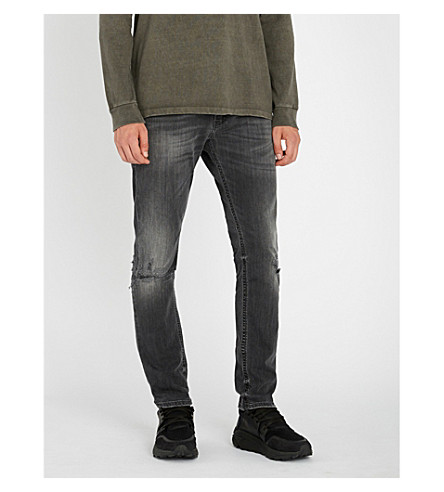 DIESEL Thommer slim-fit skinny denim jeans (Black