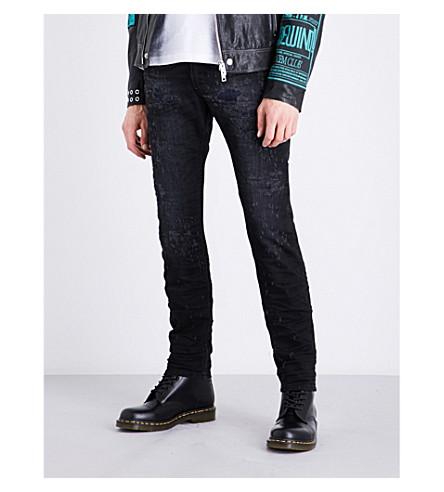 DIESEL Thommer 修身版型紧身牛仔裤 (深色 + 洗涤 + 黑色