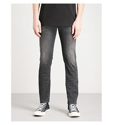 DIESEL Thommer 修身版型紧身牛仔裤 (灰色 + 黑色