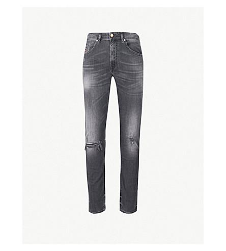 DIESEL Thommer distressed slim-fit skinny jeans (Black