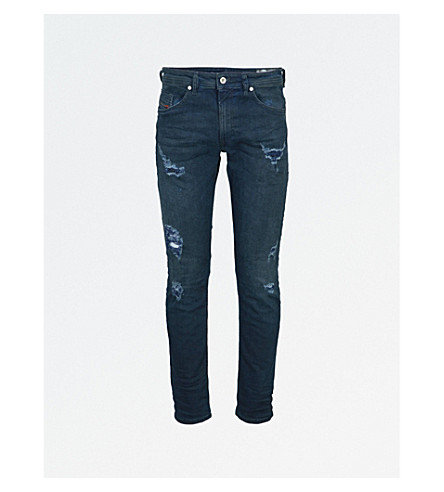 DIESEL Thommer distressed slim-fit skinny jeans (Denim