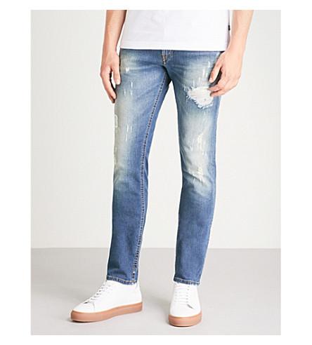 DIESEL Thommer distressed stretch-denim skinny jeans (Indigo