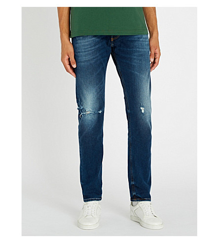 DIESEL Thommer 修身版型紧身弹力牛仔布牛仔裤 (靛蓝