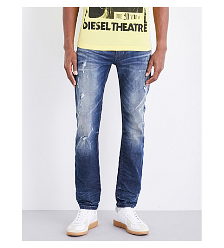 DIESEL Thommer skinny stretch-denim jeans (Medium+wash+blue