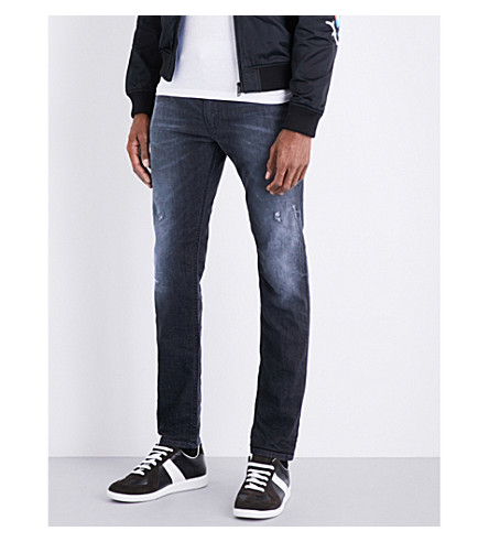 DIESEL Thommer skinny stretch-denim jeans (Dark+wash+indigo