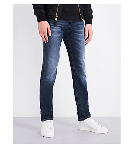 DIESEL Thommer distressed slim-fit skinny jeans (Medium+wash+blue