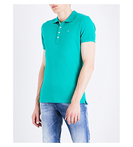 DIESEL T-heal stretch-cotton polo shirt (Greenlake