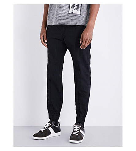DIESEL P-Point cotton-seersucker jogging bottoms (Black