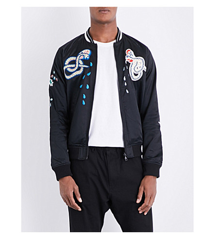 DIESEL J-Rocket cotton-blend bomber jacket (Black