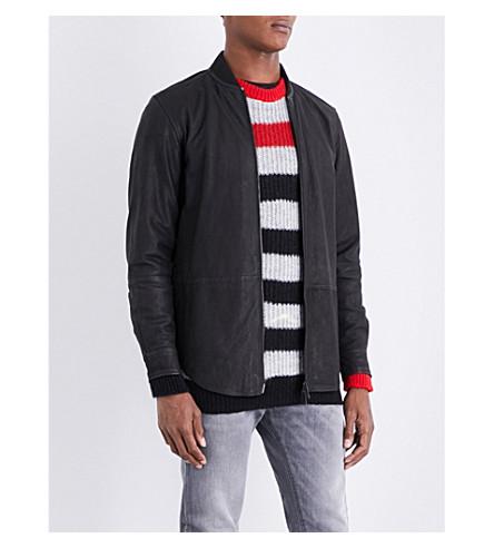 DIESEL L-Dread leather jacket (Black