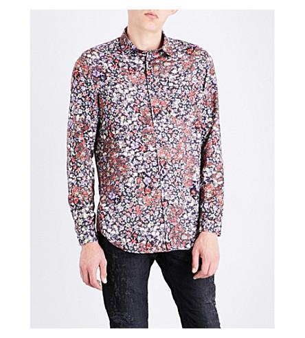DIESEL S-nico regular-fit floral-print shirt (Black