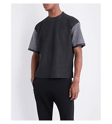 DIESEL T-cherubos contrasting-panel T-shirt (Black
