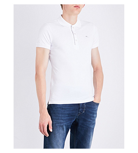 DIESEL T-kalars cotton-piqué polo shirt (Bright+white
