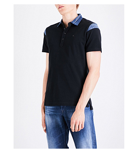 DIESEL T-Jason cotton-piqué polo shirt (Black