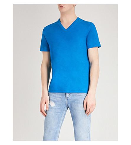 DIESEL T-Rene cotton-jersey T-shirt (Imperial+blue