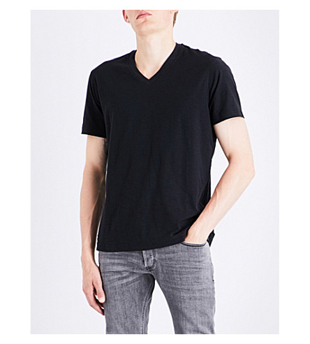 DIESEL T-rene marled cotton-jersey T-shirt (Black