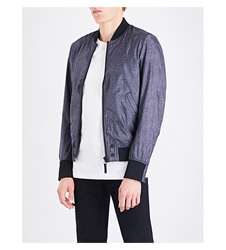 DIESEL J-Pixie shell bomber jacket (Black