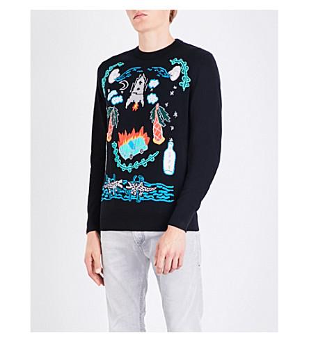 DIESEL K-Katt cotton jumper (Black