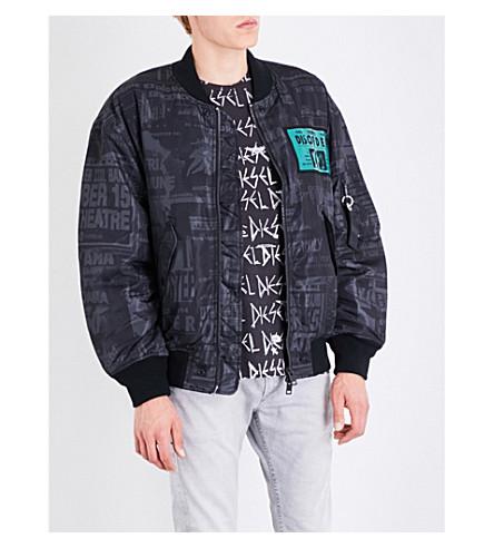 DIESEL J-Prince-Ed shell bomber jacket (Black