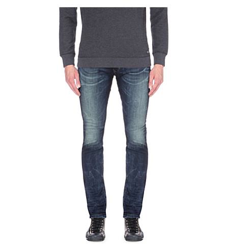 DIESEL Thavar-ne slim-fit tapered stretch-denim jeans (Denim