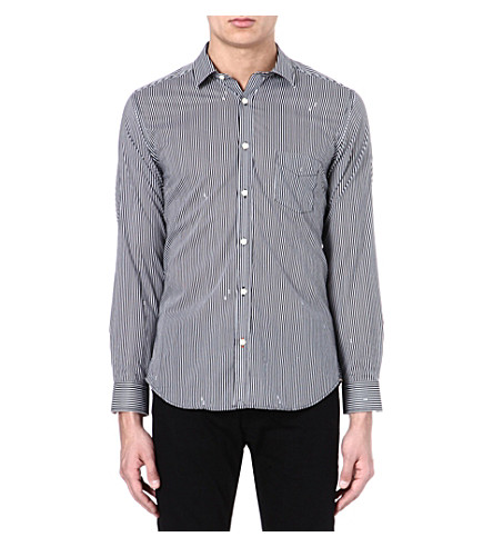 DIESEL Stripe cotton shirt (100 (white)