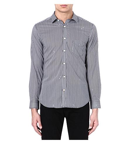 DIESEL Stripe cotton shirt (100+(white)