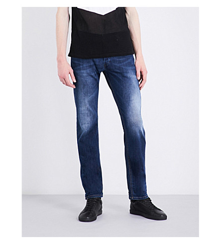 DIESEL Belther slim-fit tapered jeans (Denim+blue