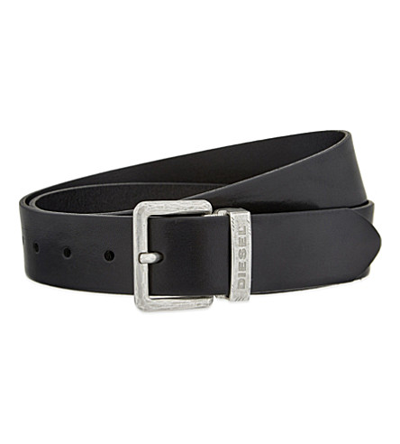 DIESEL Beres leather belt (Black