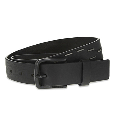 DIESEL B-night leather belt (Black