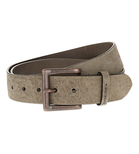 DIESEL B-solid leather belt (Grey